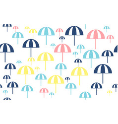 Seamless pattern design with beach umbrellas vector