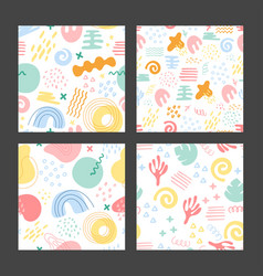 seamless pattern geometric shapes vector image