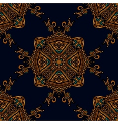 Seamless pattern luxury fabric vector image