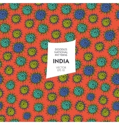 Seamless pattern of tourist attractions of India vector image