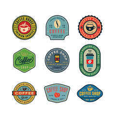 set of modern vintage coffee shop labels vector image