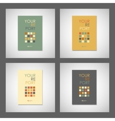 Set simple brochure design for your report vector image