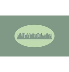 Silhouette of flat city vector