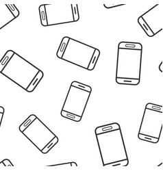 smartphone icon seamless pattern background phone vector image