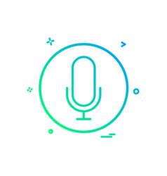 sound recorder icon design vector image