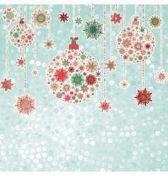Stylized Christmas balls on elegant EPS 8 vector image