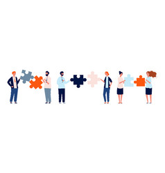teamwork business characters man woman holding vector image