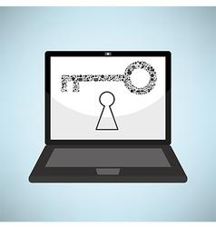 Template design keys idea with social network icon vector