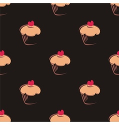 Tile cupcake pattern or background vector image