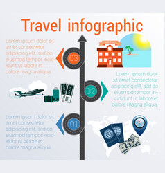 Travel infographic template 3 positions vector