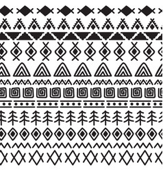 tribal seamless pattern with doodle elements vector image vector image
