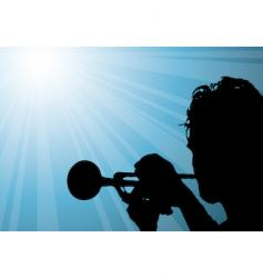 trumpet player illustration vector image