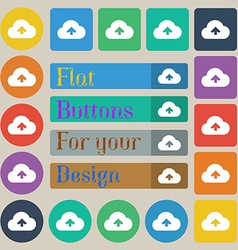 Upload from cloud vector image