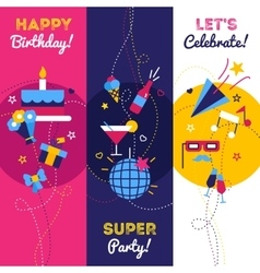 Vertical Party Banners vector