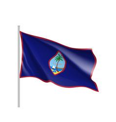 Waving flag guam vector