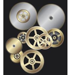 Clock gears vector