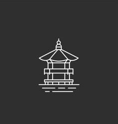 korea landmark in outline style vector image vector image