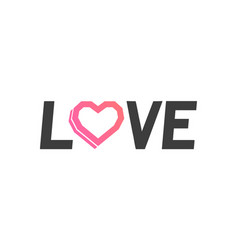 logo of love vector image