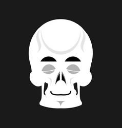 Skull sleeps emoji skeleton head asleep emotion vector