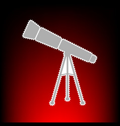 telescope simple vector image