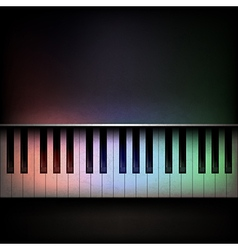Abstract grunge dark music background with piano vector image