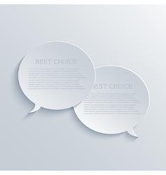 modern bubble speech light background vector image vector image