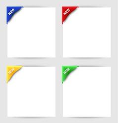 New clip corner on white paper vector image
