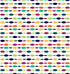 Seamless Oval patternRetro style abstract seamless vector image vector image