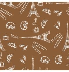 Seamless pattern Eiffel Tower vector image