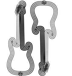Abstract guitar vector image