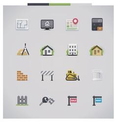 Architecture icon set vector image vector image