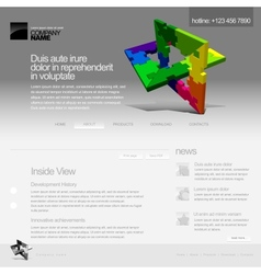 gray website template vector image vector image