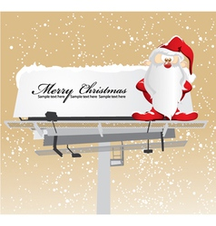 santa on billboard vector image vector image