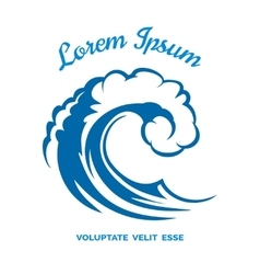 Sea wave logo template vector image
