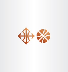 basketball icon logo sign vector image