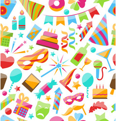 Festive Seamless Wallpaper with Carnival vector image vector image
