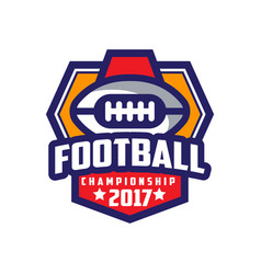 football championship 2017 logo template american vector image