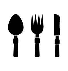 Fork Spoon and Knife icons vector image
