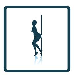 Stripper night club icon vector image