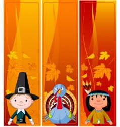 vertical thanksgiving banners vector image vector image