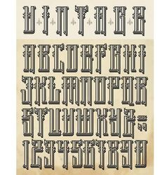 Vintage style font vector image vector image