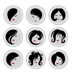 woman hair pics 2 vector image vector image