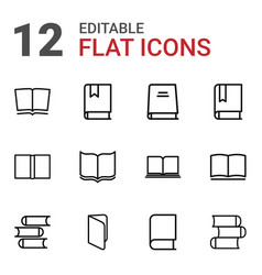 12 dictionary icons vector