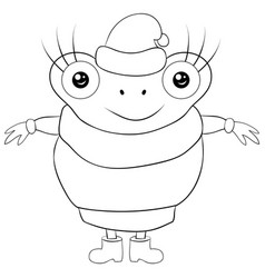 a children coloring bookpage cute cartoon frog vector image