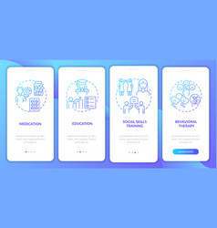 Adult adhd management onboarding mobile app page vector