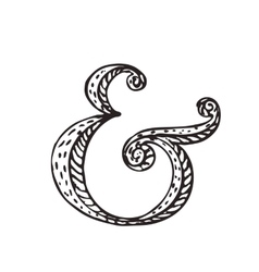 Ampersand for decoration vector