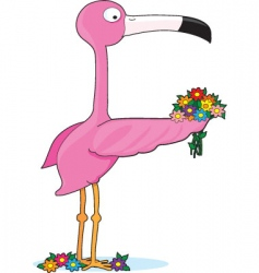 animal alphabet flamingo vector image