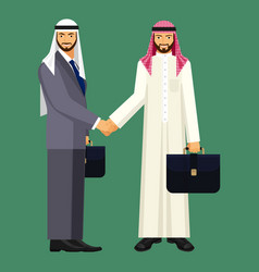 arabic businessmen in suit and traditional vector image