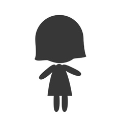 avatar woman silhouette vector image