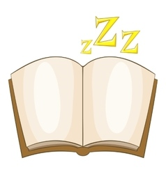 Bedtime story icon cartoon style vector image